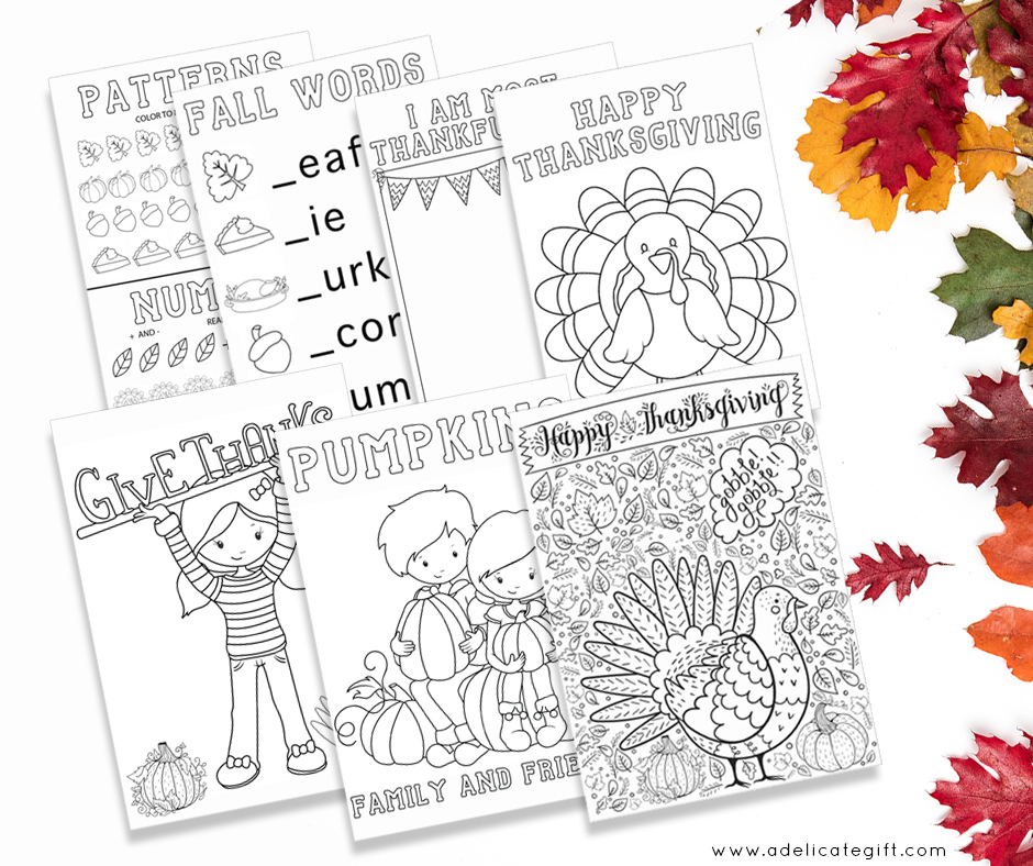Thanksgiving Coloring Pages Free Printable for Kindergarten